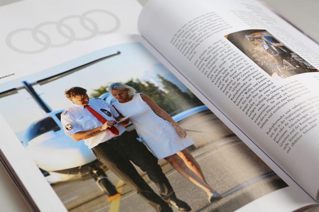 Angi Huber, Salzburg, PR und Kommunikationsdesign, Reportage Audi Kundenmagazin (Text und Bild), White Sparrow